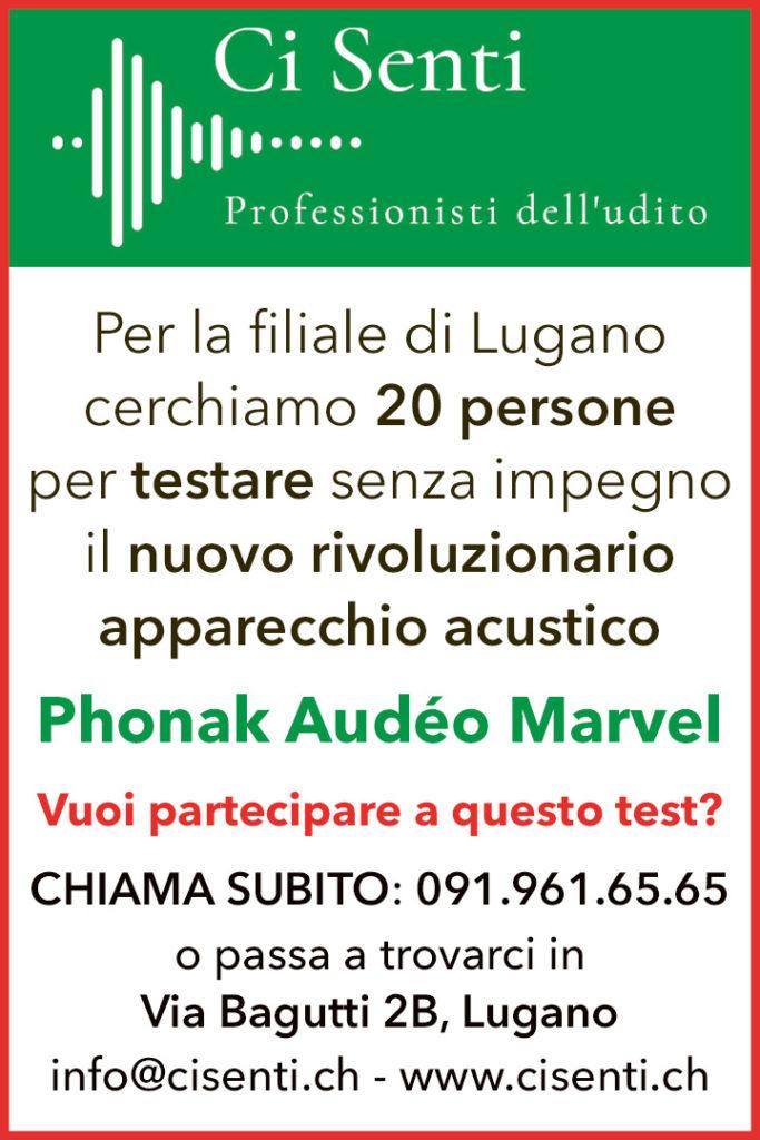 Inserzione Test Ci Senti Rivista di Lugano